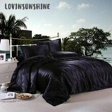 LOVINSUNSHINE одеяло роскошные наборы постельных принадлежностей покрывало и покрывала атласные кроватные простыни AB #14