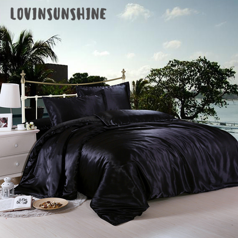 LOVINSUNSHINE Comforter Bedding Sets Luxury Bed Cover And Bedspreads Satin Bed Sheets AB#14