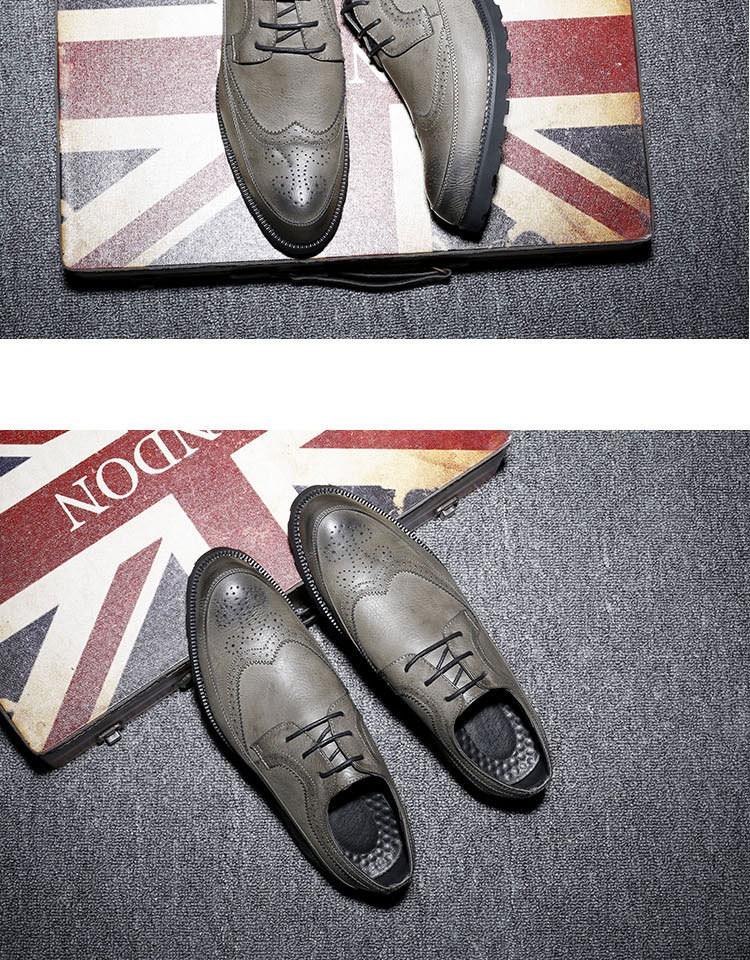 New Spring Autumn Man Genuine Leather Dress Shoes big size Breathable soft Fashion Sleeve Business Wedding Oxford Formal Shoes (8)