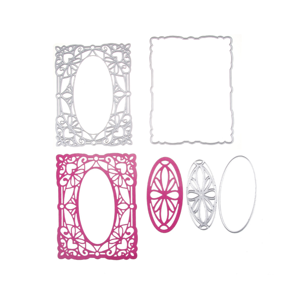 New Square Frame Hollow Out Cutting Dies For DIY Scrapbook Paper Card Craft MW