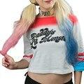Venta caliente Comando Suicida Harley Quinn de Papá Lil Monster Camiseta Sin Pantalones Cortos traje de Cosplay Mujeres Camiseta Nueva