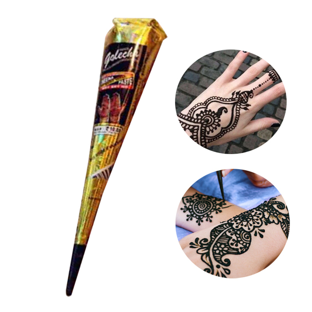 Henna Tattoo Paint Waterproof Indian Temporary Tattoos Long Lasting ...