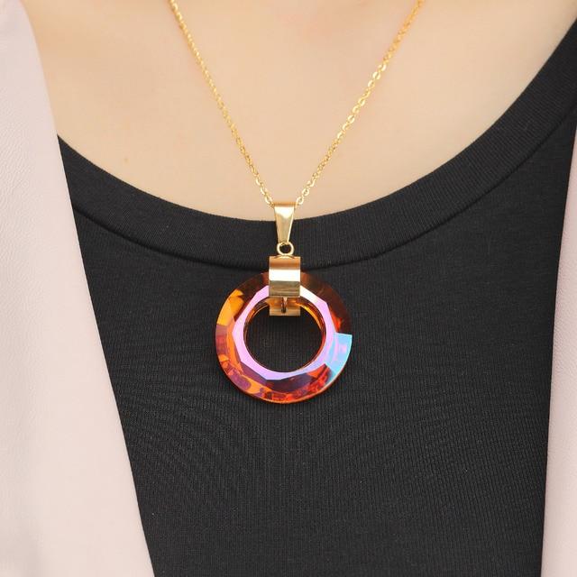 новый дизайн популярное многосекционное мерцающее круглое ожерелье фотография