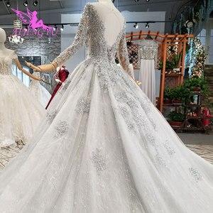 Image 5 - Aijingyu Shiny Gown Luxe Lace Gowns Queen Romantische Bridal Mexicaanse 2021 2020 Bal Jurken Eenvoudige Trouwjurk
