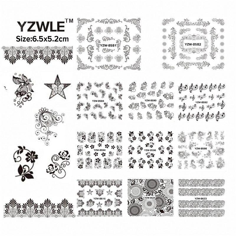 LCJ 49 Sheets DIY Decals Nails Art Water Transfer Printing