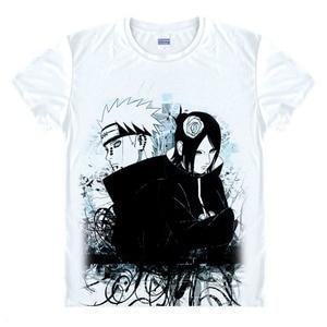 Image 4 - Anime Naruto T Shirt Uchiha Sasuke T shirt Akatsuki Uchiha Itachi Shuriken Uzumaki Naruto BORUTO Cosplay Costume Top Tee Shirt