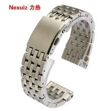 Pulseiras de prata 24mm 28mm 30mm largura banda alta qualidade aço inoxidável relógio de pulso pulseira pulseira promoção dos homens