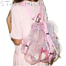 Стойки прозрачный ПВХ Рюкзаки для женщин желе дамы свежий персонализированные Рюкзаки
