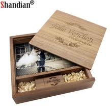 SHANDIAN Wood usb Memory stick Pendrive 8GB 16GB 32GB 64GB