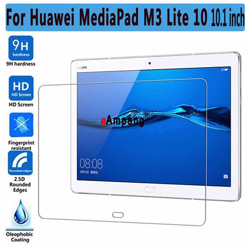 9H Tempered Glass for Huawei Mediapad M3 Lite 10 10.1 inch BAH-W09 BAH-AL00 Screen Protector for Huawei M3Lite10 Glass Film 2.5D new 9h glass tempered for huawei mediapad t5 10 tempered glass screen film for huawei mediapad t5 10 inch tablet screen film