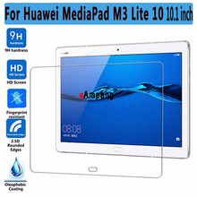 9H Tempered Glass for Huawei Mediapad M3 Lite 10 10.1 inch BAH-W09 BAH-AL00 Screen Protector for Huawei M3 Lite 10 Glass Film 2pack tempered glass screen protector for 10 1 huawei mediapad m3 lite 10 bah w09 bah al00 protect screen film