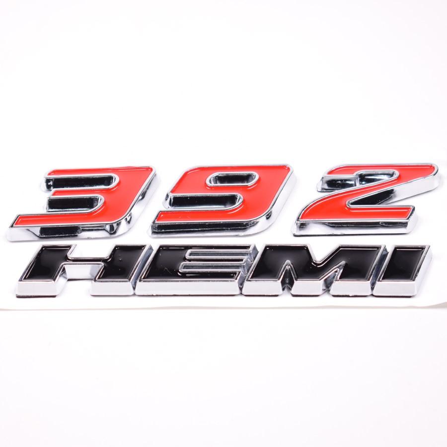 Yaquicka auto car 392 hemi emblem badge decal sticker for dodge challenger srt 8 charger