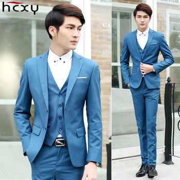 2019 Men Suit Wedding Fashion Business Dress Suits Male Blazer Party Masculino Suits Clothes 3 pieces set (Jacket+Vest+Pants) - DISCOUNT ITEM  52% OFF All Category