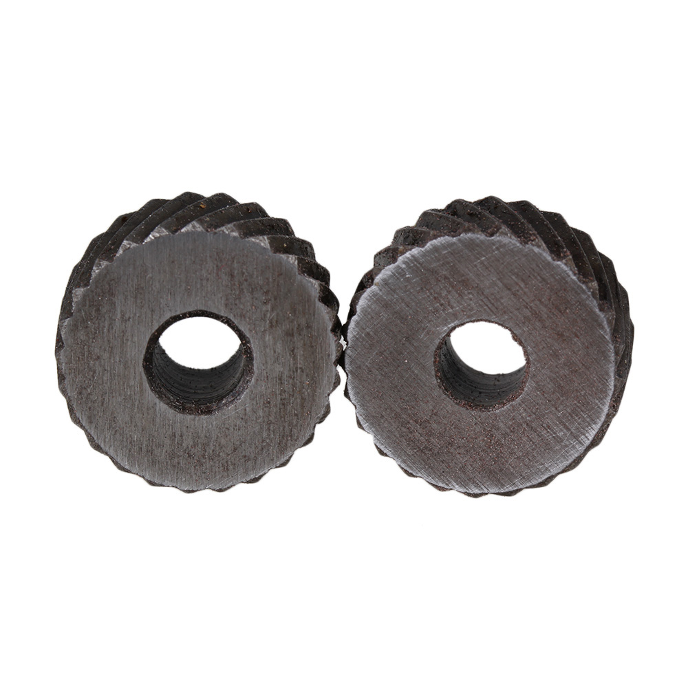 2P Positive and Negativ Knurling Tool Silver Diagonal Wheel Knurl 2mm Pitch