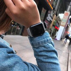 Image 5 - Модный тканевый и кожаный ремешок для Apple Watch 38 мм 42 мм Браслет для Apple iWatch 40 мм 44 мм Серия 1 2 3 4 5 ремешок для часов