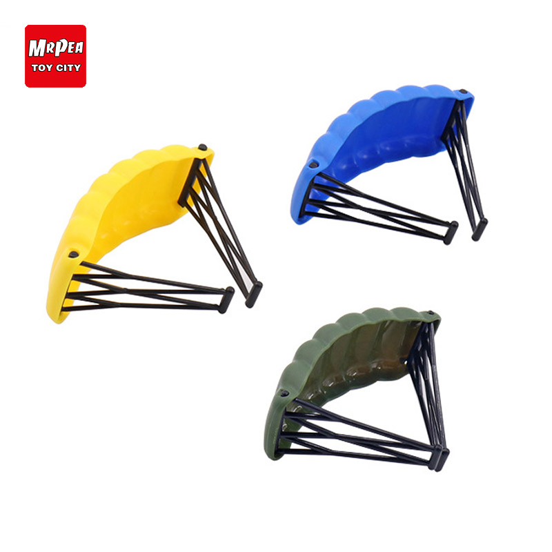 Military Building Blocks Game Playerunknowns Battlegrounds Parachute Accessories Equipment To Eat Chicken Tonight YY30