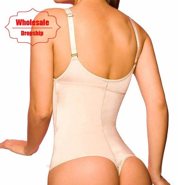 3e72ba065e placeholder NINGMI Latex Shaper Bodysuit Women Postpartum Firm Control  Thongs Full Body Briefer Shapewear Model Stap Waist