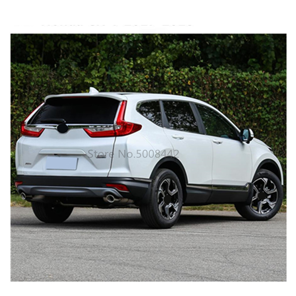 Image 4 - For Honda CRV CR V 2017 2018 2019 car sticks ABS chrome back rear door trunk bottom tailgate frame plate trim hoods 1pcs-in Car Stickers from Automobiles & Motorcycles