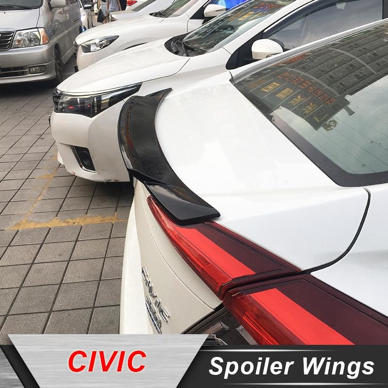 JNCFORURC Rear Trunk Lid Car Spoiler For Honda Civic 2016 2017 2018 Car Modification Tuning Accessories ABS Plastic Spoiler Wing