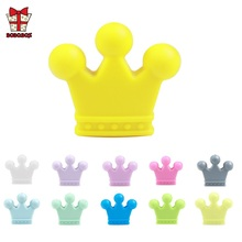BOBO.BOX 10Pcs Food Grade Crown Silicone Beads Baby Teething DIY Pacifier Chain Pendant Accessories  Teethers Toy