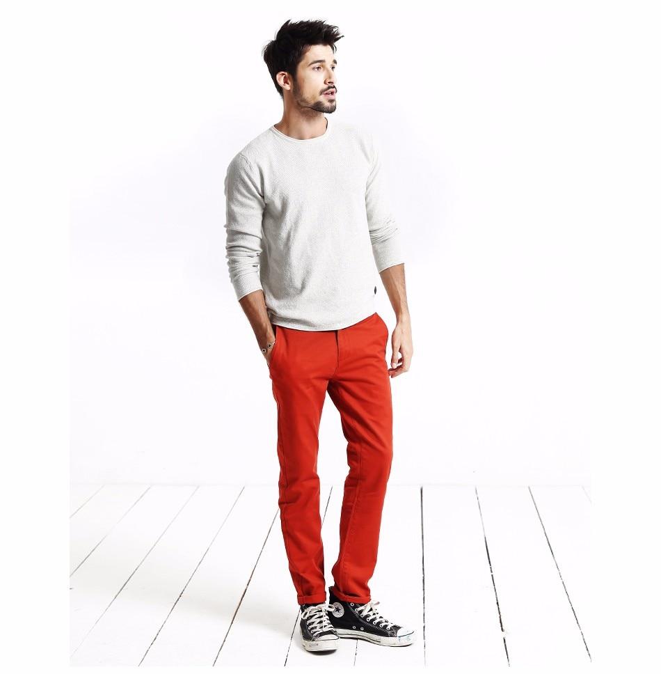 Simwood Brand Autumn Winter New Fashion 2019 Slim Straight Men Casual Pants 100% Pure Cotton Man Trousers Plus Size KX6033