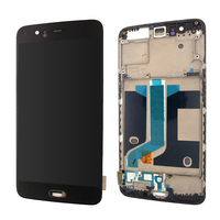 NEW OLED For oneplus 5 Display touch screen digitizer with frame assembly and Adhesive tools replacement For OnePlus 5T LCD