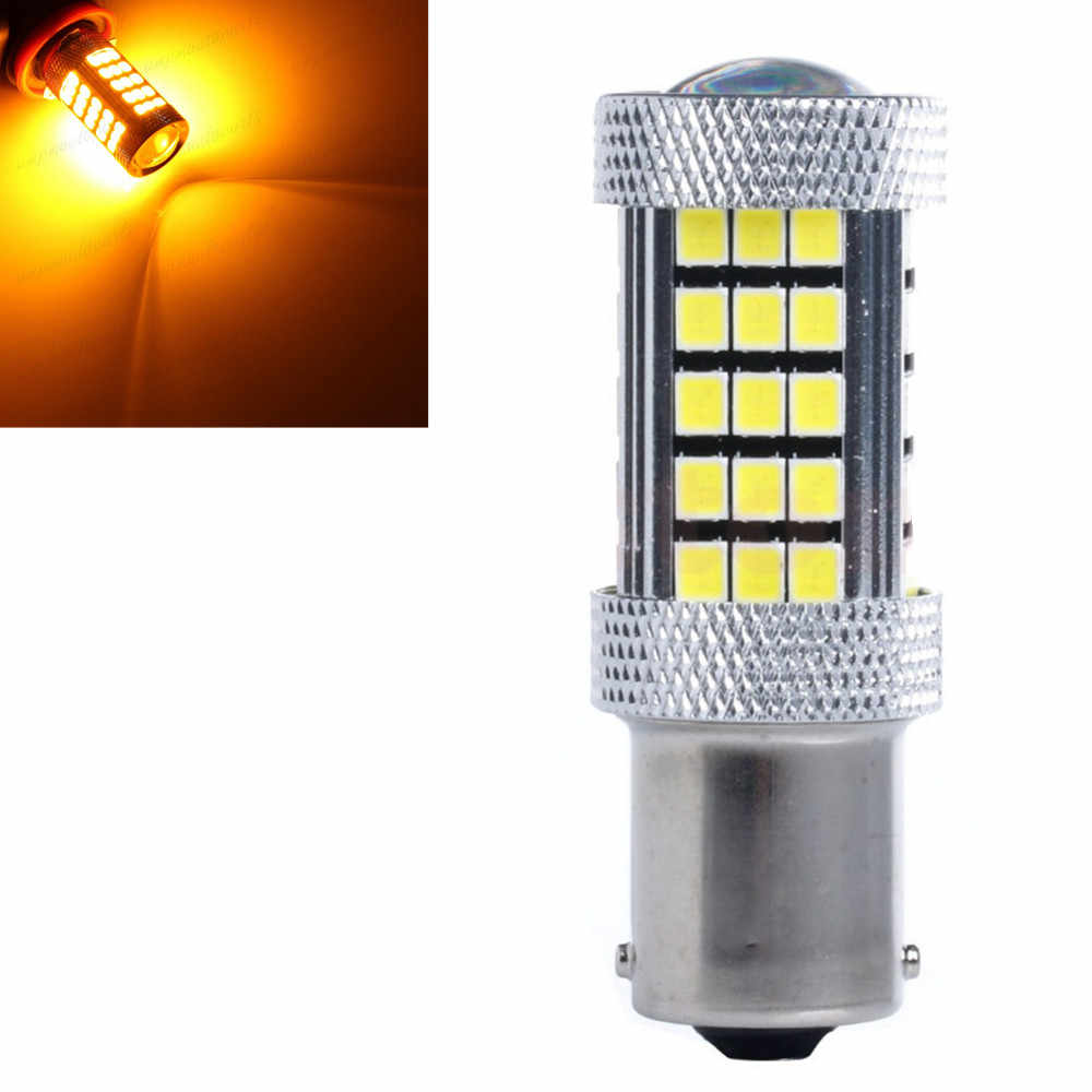 1156 P21W BA15S 63 66 led SMD lampka hamulca samochodowego samochodowa kopia zapasowa żarówka przeciwmgielna SMD bursztynowa żółta