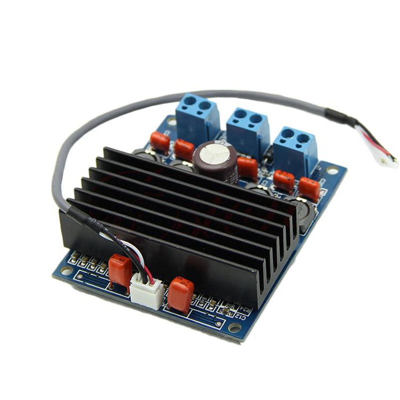 2 X 50W TDA7492 Class D High-Power Digital Amplifier Board Amp W/ Radiator Amplifier Module