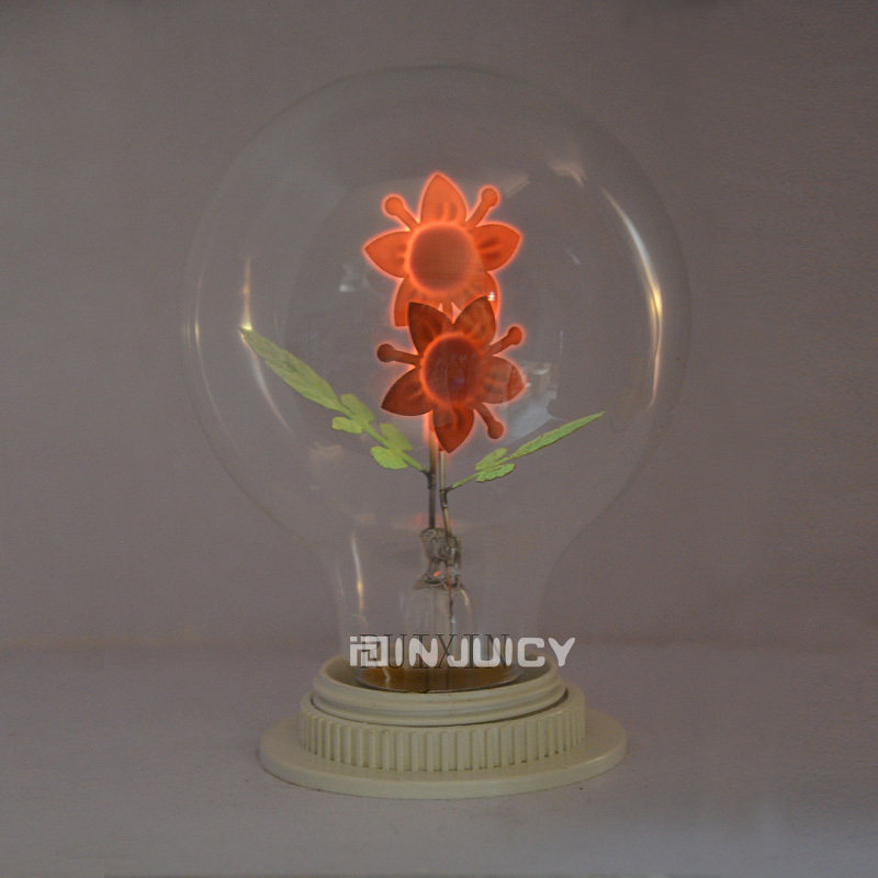 G80 10PCS/LOT E27 Sun Flower Fire Halogen bulb Edison Retro Tungsten Carbon Filament Light For Gift Birthday Chrismas Bar