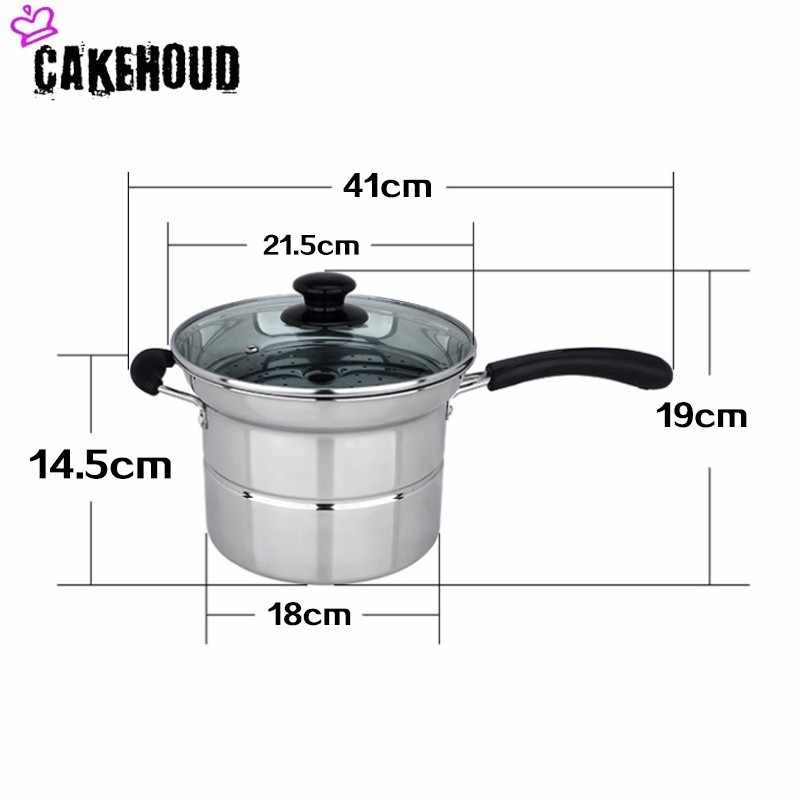 CAKEHOUD 4-mảnh Thép Không Gỉ Nồi Hơi Nước Net Glass Bìa Ngoài Trời Cắm Trại Nấu Ăn Nồi Lò Nướng Và Máy Rửa Chén An Toàn Nhà Bếp nguồn cung cấp
