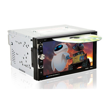 """Car DVD Player 2 Din 6.95"""" Car Bluetooth Stereo FM Radio MP3 MP5 DVD Multimedia Player Support USB CD AUX Drive Hand free Call"""