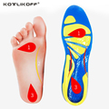 KOTLIKOFF Silicone Gel Insoles Foot Care for Plantar Fasciitis orthopedic Massaging Shoe Inserts Shock Absorption Shoe pad