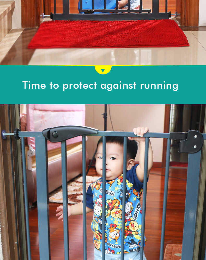 เด็กและสัตว์เลี้ยงสุนัขความปลอดภัยประตูรั้วสูง 77 ซม.End ไม้