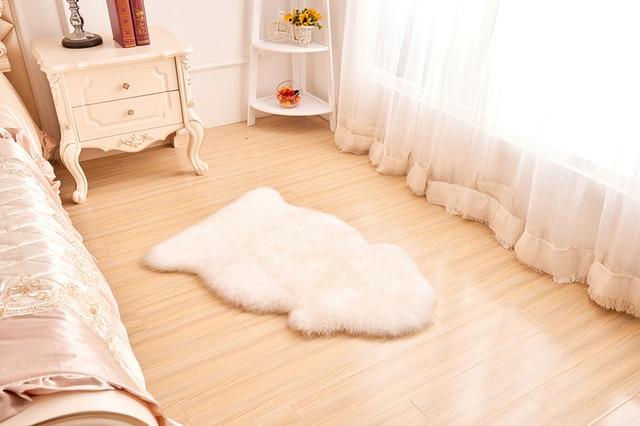 Free Shipping Australia Genuine Sheepskin Lamb Skin Long Shaggy Fur Rug Carpet Mat Chair Cover Seat