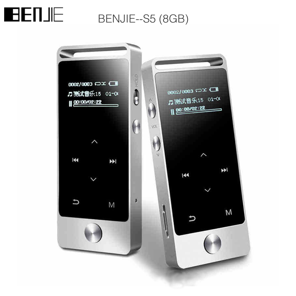 BENJIE S5 Touch Screen HIFI MP3 Player 8GB BENJIE S5 Metal High Sound Quality Entry-level Lossless Music Player Support TF Card ...
