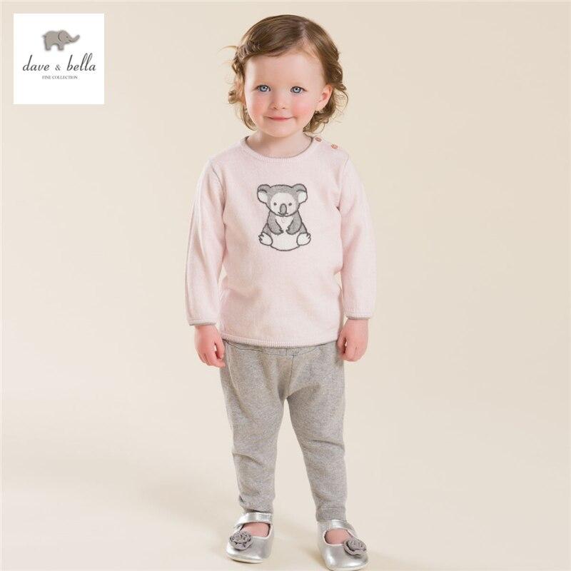 ФОТО DB4015 davebella  soft  baby knitted clothing set for boys girls
