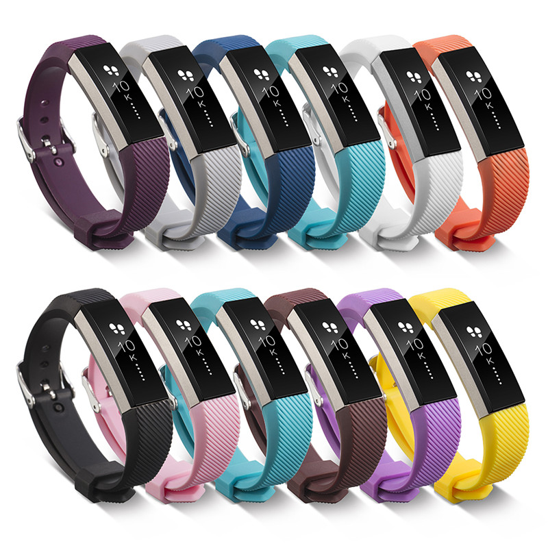 2017 New arrival Silicone Fitbit Alta Watch Metal Bands Wristband Bracelet with Secure Adjustable Strap Replacement Accessories