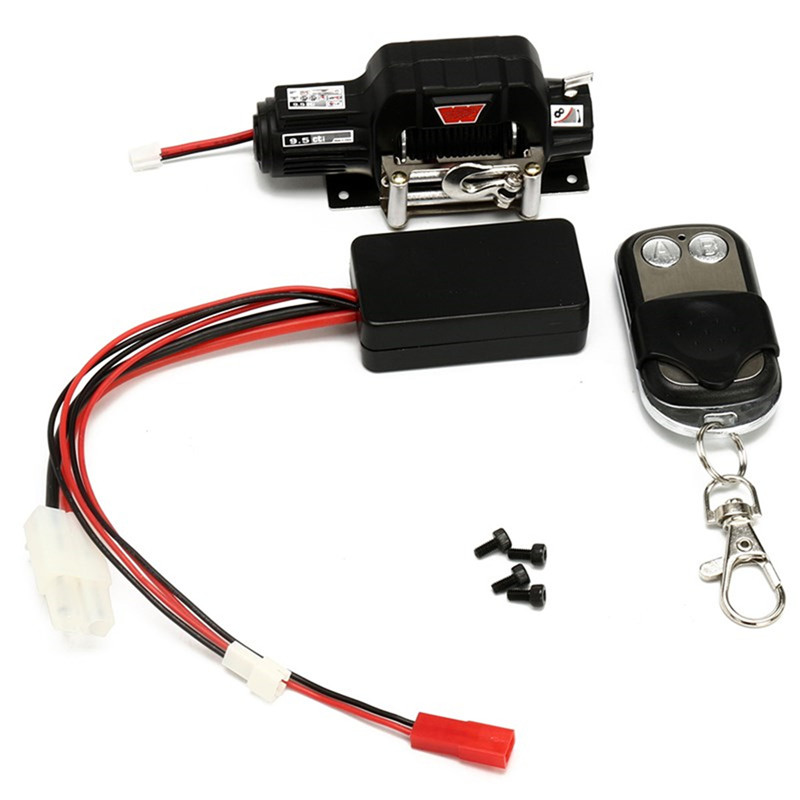 RC Crawler Car Parts Winch Wireless Remote Control Receiver Set For 1:10 Traxxas Hsp SCX10 RC Car Parts For Toy Hobbies Cars