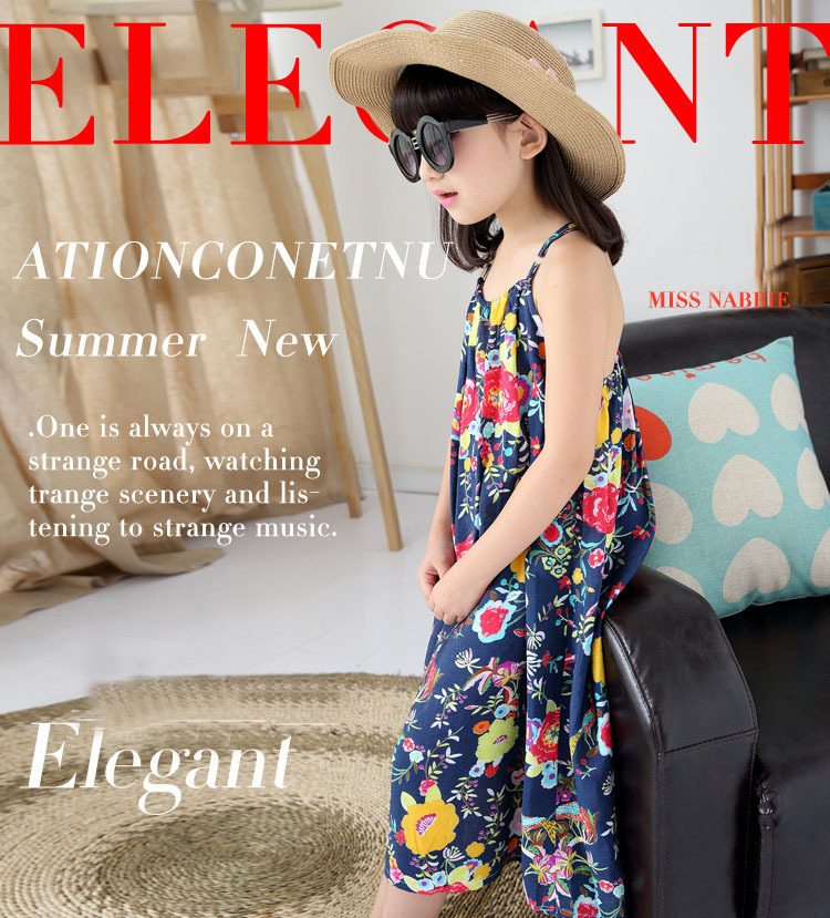 ac80ea75091 ... girl dress 2018 summer dresses girls kids clothes. holiday beach  teenage girls clothing 8 10 12 13 14 years 2017 girls sundresses flowers  printed ...