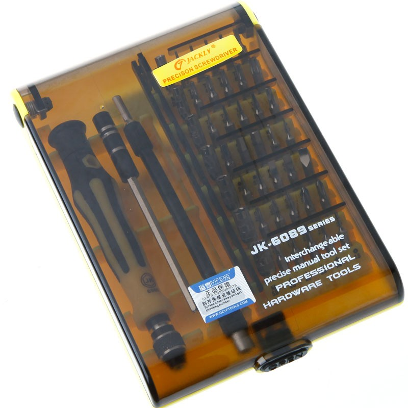 Precision 45 in 1 Professional Electron Torx Hardware Screwdriver Repair Tools Set Interchangeable Manual Set Jackly JK-6089C  цены