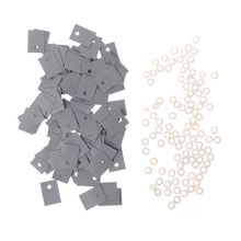 цены 100PCS TO-220 Plastic Insulation Washer Transistor and TO-220 Silicone Pads Insulator Set