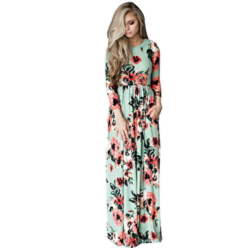 купить Women's clothes Plus Size Maternity Dress Printed Dresses For Pregnant Women Floral Long Loose Maxi Dress Boho Dress S-3XL NEW по цене 1561.22 рублей