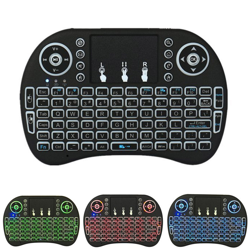 New H Backlit Wireless Keyboard BK8 With Touchpad Multimedia Keys Keyset For PC Pad Android/Google TV Box HTPC IPTV PS3