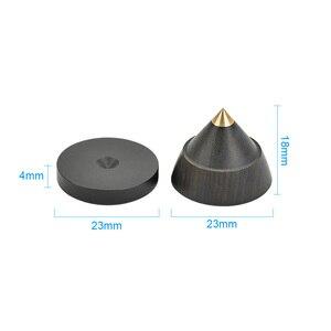 Image 4 - AIYIMA 4 sets Aktive Lautsprecher Spikes Stand Füße Audio Lautsprecher Reparatur Teile Zubehör Plattenspieler 23x19mm DIY Für heimkino