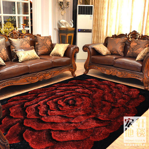Living Room Carpet 3d Quality Modern Fashion Wire Thickening Encryption Flower CustomizeChina