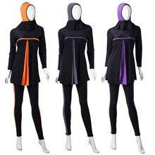Ladies Full Cover Muslim Swimwears Islamic Womens Swimsuits Arab Islam Beach Wear Long Modest Hijab Swimming Burkinis