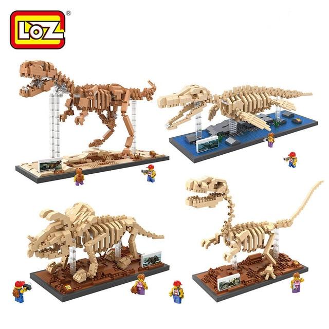 LOZ Creator Dinosaurs Fossils Mini Diamond Building Blocks Toys Tyrannosaurus Rex Fossils DIY Bricks Figure Toys for Children