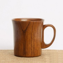 Freies verschiffen hohe qualität vertraglich teebecher korn portable tasse großhandel handgriff holz tasse becher