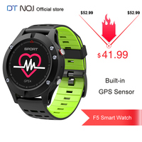 DT NO.1 F5 OLED GPS Smart Watch 24h Real time Heart Rate Monitor Multi Sport Mode Outdoor Altimeter Smartwatch IP67 Waterproof