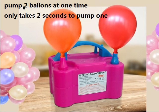 Electric Balloon Pump High Voltage Double Hole AC Inflatable Air Balloon Pump Electric Balloon Inflator Pump Portable Air BlowerElectric Balloon Pump High Voltage Double Hole AC Inflatable Air Balloon Pump Electric Balloon Inflator Pump Portable Air Blower